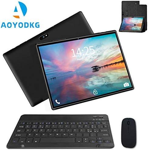 10.1 inch Tablet with Keyboard Case Quad-Core 1.3Ghz Processor, 3 GB RAM, 32 GB Storage, Android 9.0 (Go Edition) 1280×800 IPS HD Display, 8MP Rear Camera, Bluetooth, Wi-Fi, USB, GPS-Black 5105QtKsR6L