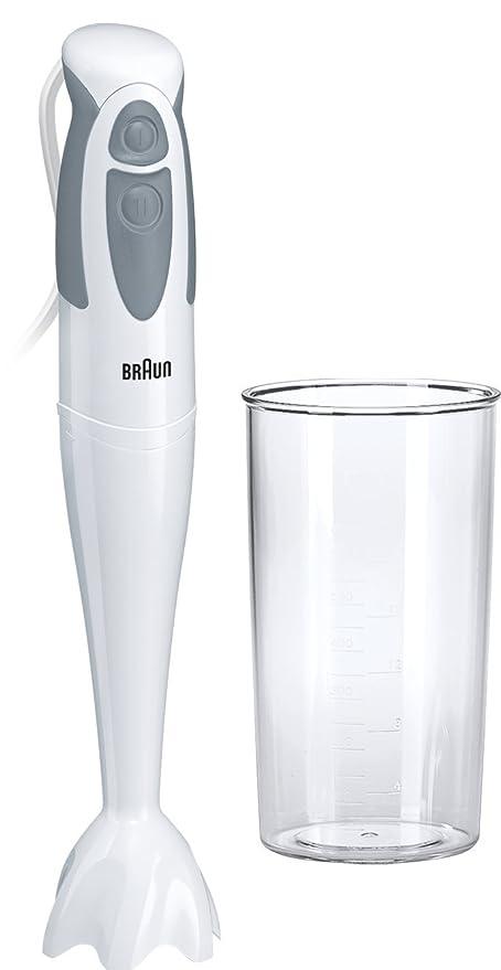 Braun Hogar MQ300 Soup Multiquick 3 Batidora de inmersión, 550 W, Plástico, 2 Velocidades, Gris y Blanco