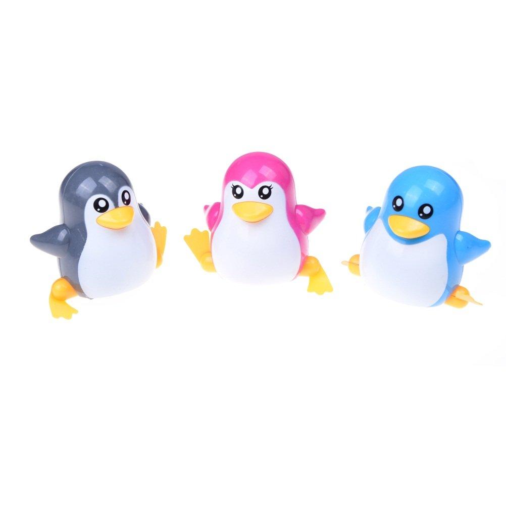 1 Pcs Funny Children Kids Toy Walk Penguins Clockwork Wind Up Party Toy,Color Random by Sdetter The glass Heart