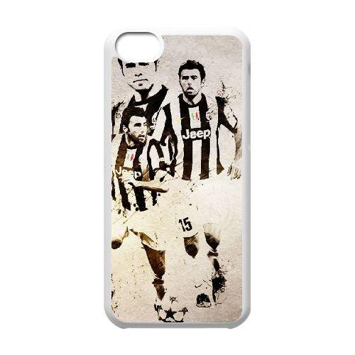 X1P88 Juventus Andrea Barzagli H2C2ZC cas d'coque iPhone de téléphone cellulaire 5c couvercle coque blanche IH6YRN5UJ