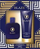 Blaze Men's 2 Piece Gift Set - Includes 2.7fl.oz. 80ml Shower Gel, 1.7fl.oz. / 50ml EAU De Parfume - Inspired By Versace Pour Homme 2 Piece Fragrance Set by Watermark Beauty