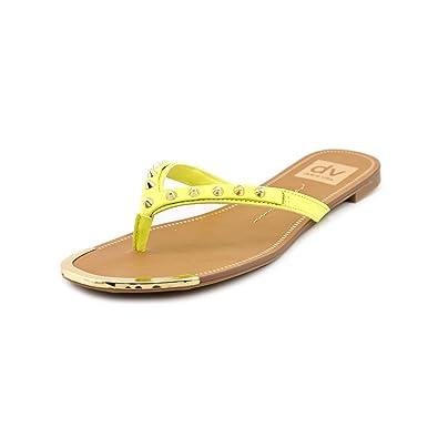 15d4bf2d0ba3 DV By Dolce Vita Dax Women US 6.5 Yellow Thong Sandal  Amazon.co.uk  Shoes    Bags