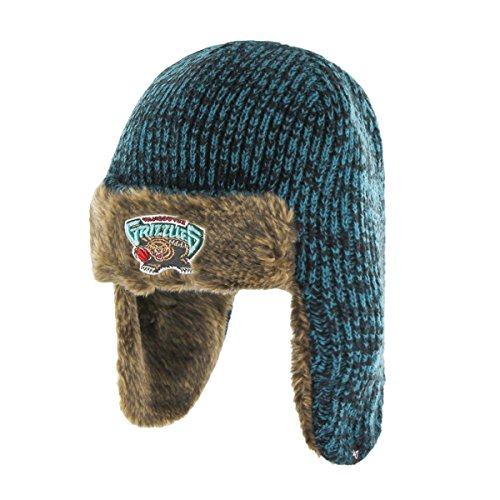 NBA Memphis Grizzlies '47 Orca Sherpa Knit Beanie, One Size, Dark Teal (Grizzlies Gear)