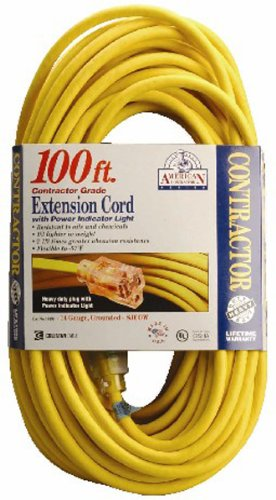 Coleman Cable Systems 01499 14/3 Contractor Extension Cor...