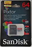 SanDisk Pixtor High Performance MicroSDXC UHS-1 Card wth Adapter 64GB Class 10 Memory Card