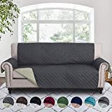 RHF Reversible Sofa Cover, Couch Covers for 3 Cushion Couch, Couch Covers for Sofa, Couch Cover, Sofa Covers for Living Room,Couch Covers for Dogs, Sofa Slipcover, Couch Protector (Sofa: Grey/Beige)
