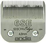 Andis 65600 Size-6SE, 3/16-Inch Cut Length Carbon-Steel ShowEdge Dog Clipper Blade