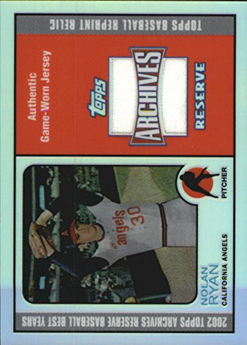 2002 Topps Archive Card (2002 Topps Archives Reserve Uniform Relics #NR Nolan Ryan 73 D Jersey - NM-MT)