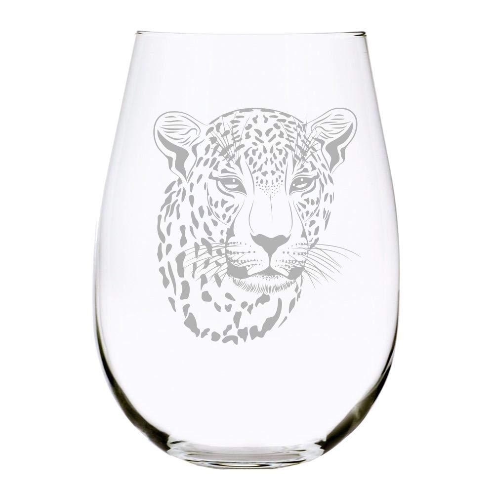 Wine Tumbler Custom Leopard Fresh out F**ks Stemless Wine Glass