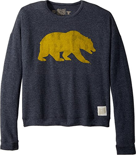 The Original Retro Brand Kids Girl's Cal Bear Haaci Pullover Sweatshirt (Big Kids) Navy Large by The Original Retro Brand Kids
