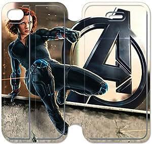 iphone 5C Flip Leather Phone Case Black Widow SF1DG6274230