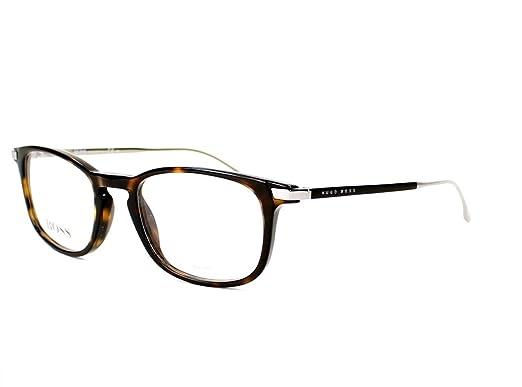 Amazon.com: Hugo Boss frame (BOSS-0786 OPC) Acetate Havana Brown ...