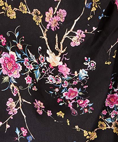 Rüschendetails mit Florales Joe Kleid Schwarz Damen Browns wx4wqOfX