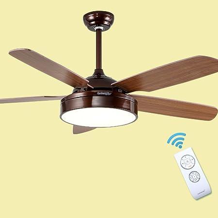 LQ Lámparas de ventilador de hoja de madera de 44/52 pulgadas ...