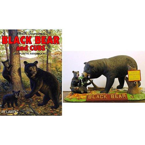 North American Black Bear and Cubs 1-10 Atlantis Model Company - North American Black Bear