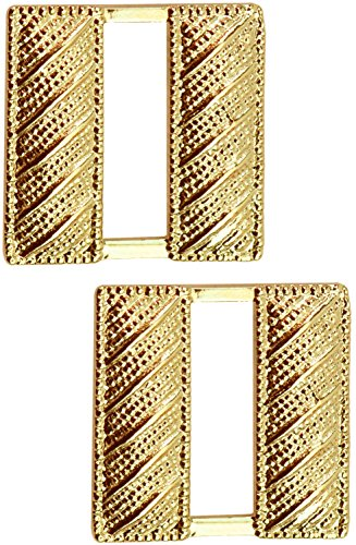 Tactical 365 Operation First Response Pair of Captains Rank Insignia Pins for Police or Military (Small, Corrugated Gold)
