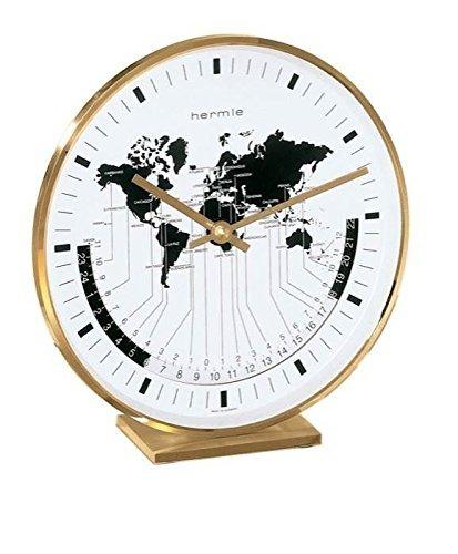 Hermle Buffalo I Brass Casing World Time Tabletop Clock by Hermle Clocks