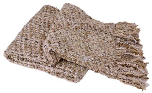 Kennebunk Home Canyon Luxurious Woven Throw, Linen (Polyester Kennebunk Blanket)