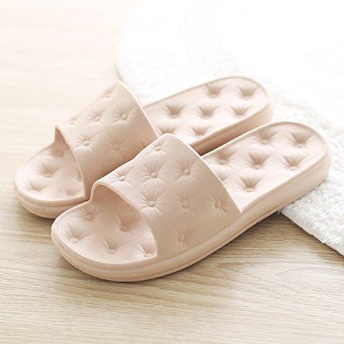 de parejas cool masculinos home baño con planta interiores y baja Brown2 zapatillas de antideslizante verano japonesas zapatillas suave Las DogHaccd Zapatillas femeninos macho baño stay xqCwaw1O