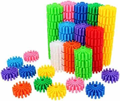 SHAWE Kids Toy, Coglets 80 Pieces Gear Interlocking Building Set,10, Learning Color Cognition,Make Wonderful World,Run Wild Imagination