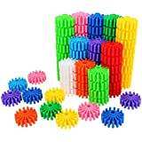 SHAWE Kids Toy, Coglets 80 Pieces Gear Interlocking Building Set,10, Learning Color Cognition,Make Wonderful World,Run Wild Imagination