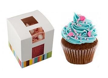 x 30 ~ Individual Cupcake Caja ~ Cupcake Soporte ~ Muffin Cápsula Funda ~ Individual Cupcakes: Amazon.es: Hogar