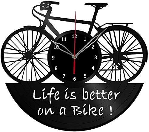xiayanmei Bicicleta Vinilo Registro Pared Reloj Ventilador Art ...