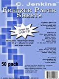 C. Jenkins 50 Industrial Freezer Paper Sheets 8.5