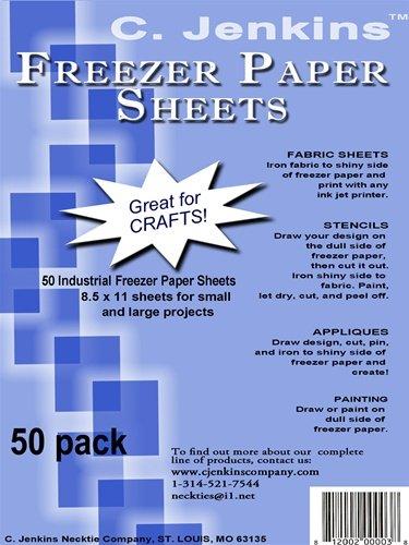 C. Jenkins 50 Industrial Freezer Paper Sheets 8.5'' x 11''