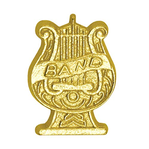 Express Medals Gold Band Lyre Chenille Lapel Pin (100-Pack)