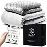 Calming Minky Comfort Weighted Blanket for Adults and Kids - Queen Size 15 lbs Cooling Blanket