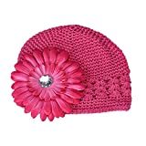 Jshuang Knitted Flower Children's Hat,Baby Girl's Flower Hats Baby Hats hat Winter Autumn,Fit...