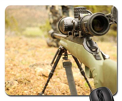 Mouse Pad - Hunt Hunting Rifle Gun Hunter Sport Nature ()