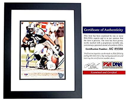 Jevon Kearse Signed - Autographed Tennessee Titans 8x10 inch Photo BLACK  CUSTOM FRAME - PSA  ed357d563