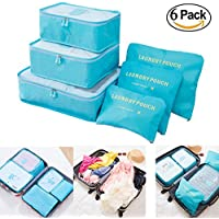 m-jump 6Set Bolsas de almacenaje de viaje multifuncional ropa Sorting paquetes de viajes , impermeable bolsas de embalaje, equipaje Organizador Bolsa