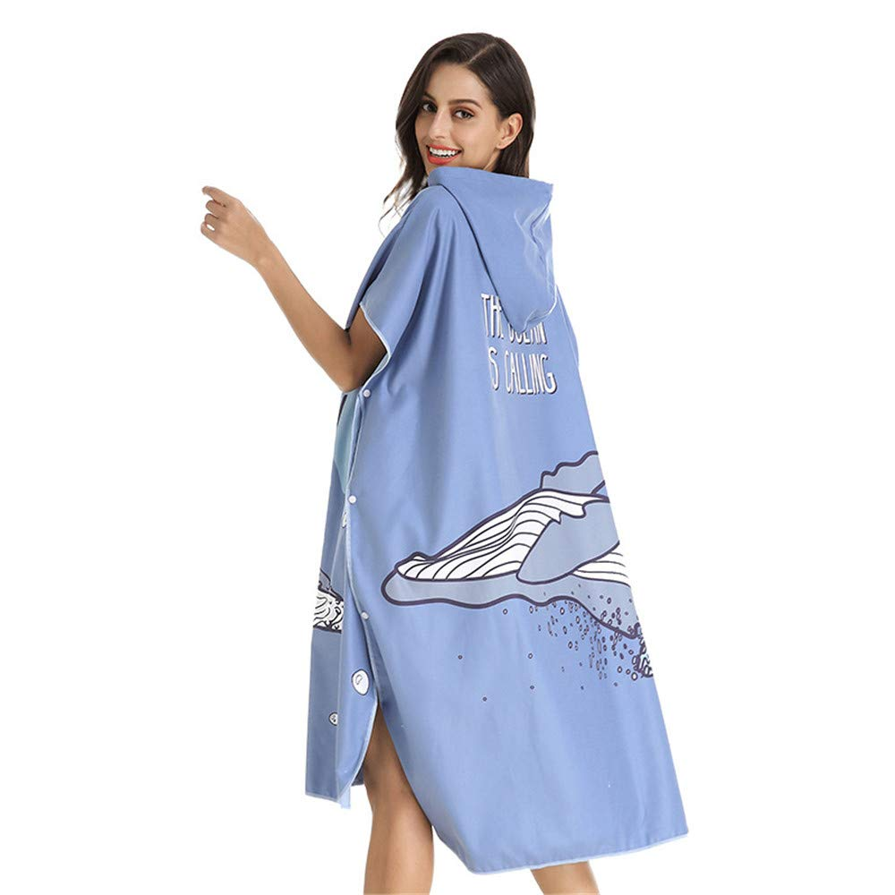 Traje de cambio de toalla Poncho Ropa de microfibra toalla ...