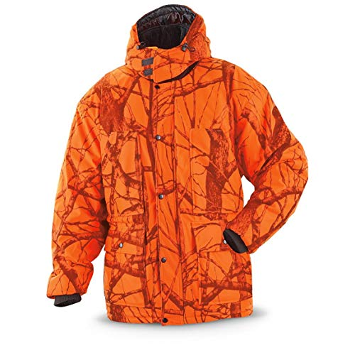 World Famous Sports Waterproof Breathable Camo Parka, Blaze Woodland, Blaze Camo, L