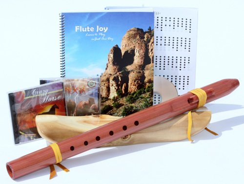 Native American Style D Cedar Native American Style Wood Flute + Book + 3 Cd's Starter Set (Retail Value $219.00)