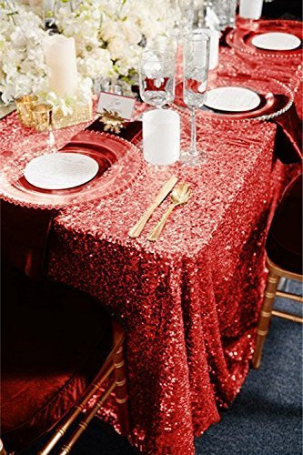 TRLYC 120 Inch Rectangular Sequin Tablecloth product image