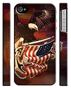 American Eagle Flag USA Iphone 4 4s Hard Case Cover
