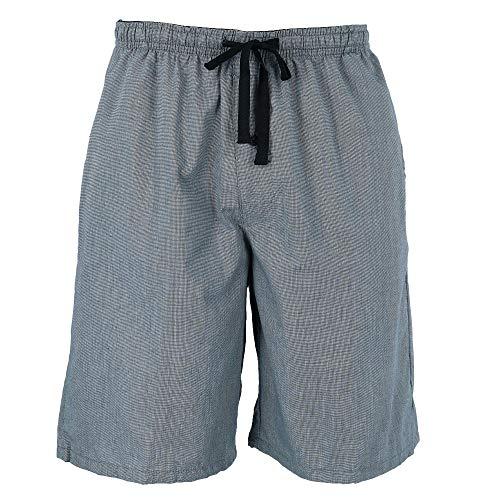 Hanes Men's Cotton Madras Drawstring Sleep Pajama Shorts, XLarge, Heather - Madras Plaid Pants