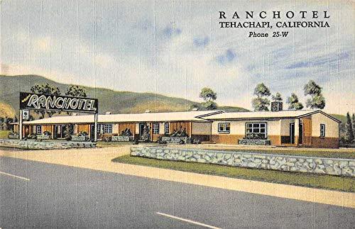 Tehachapi California Ranchotel Roadside America Vintage Postcard AA570