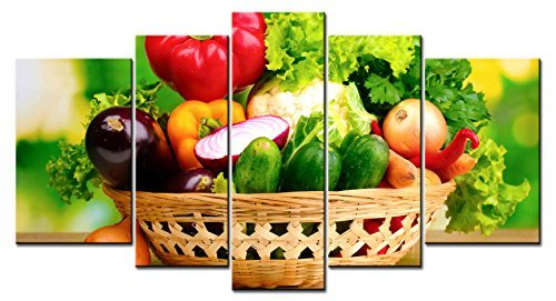 Various Vegetable Pepper&Cucumber In The Basket