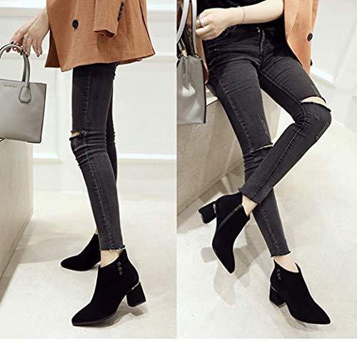 Tamaño Hhgold Zapatos Negro 34eu 2 2 Alto color Mujer De Tacón Para Chelsea rvwrxZqC