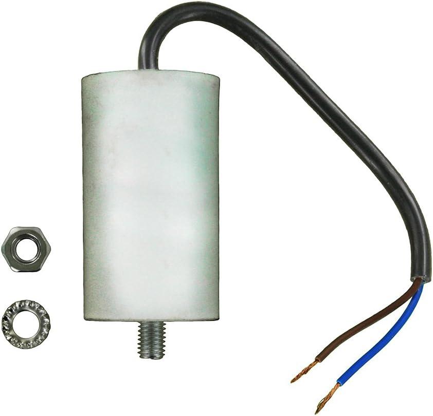 Europart Universal condensador con 19cm Cable conectores, 20µF/20MFD, 450vac