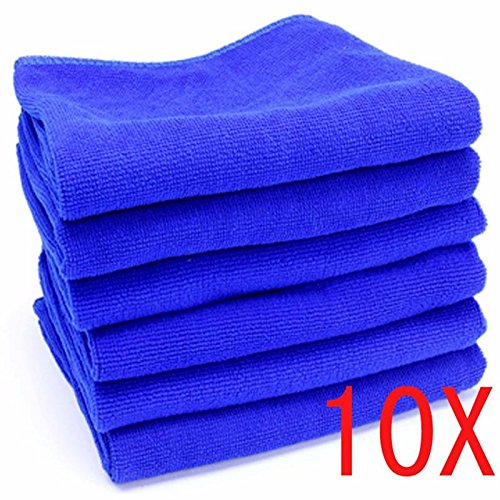 10PCS Microfiber Towel Car Home Kitchen Washing Clean Wash Cloth - Face Ban Baby Ray