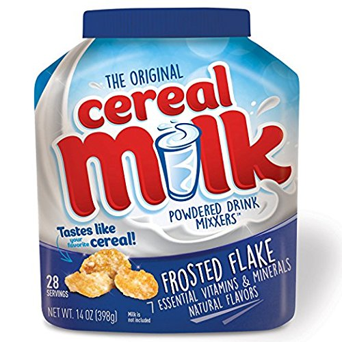 Cereal Beverage - The Original Cereal Milk Frosted Flake, powdered drink mixxers 14 oz, pack of 1