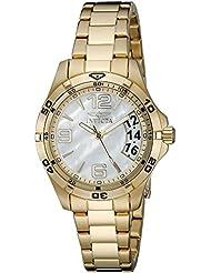 Invicta Womens 21372 Specialty Analog Display Swiss Quartz Gold Watch