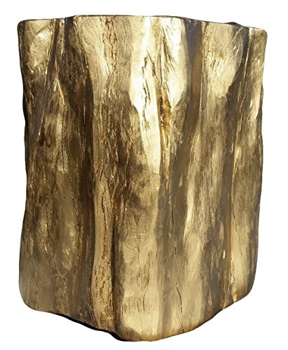 Shefford Woodlands Side Table, Reclaimed Solid Wood, Gold