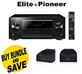 Pioneer Elite SC-99 9.2 Channel Networked Class D3 Av Receiver with Built-in Bluetooth, Wi-fi & Dolby Atmos + Pioneer SP-T22A-LR Add-on Speaker designed by Andrew Jones for Dolby Atmos Bundle